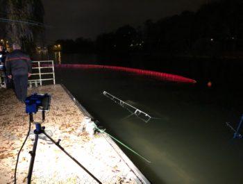 Quai de la Gourdine - Un bateau coule/mesures de précaution