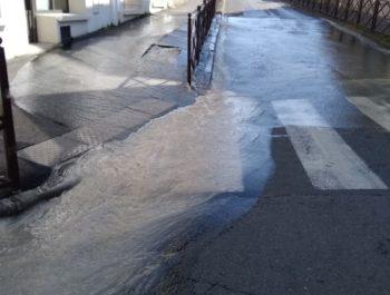 Fuite d'eau - Rue Paul Bert