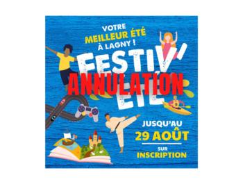 Annulations animations Festiv'été - Fortes chaleurs