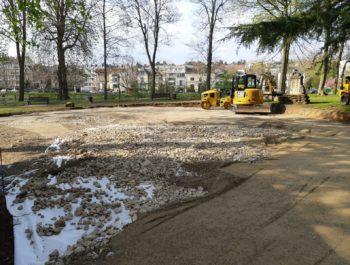 La nouvelle aire de jeux - square Foucher de Careil